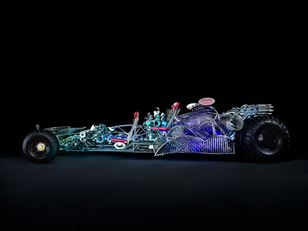 One of the vehicles at the Intergalactic Art Car Festival