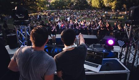 DJs at a music festival