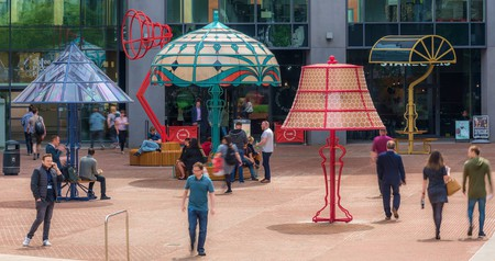 Oversized lamps in Manchester