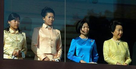 Princess Ayako (seen on the left)