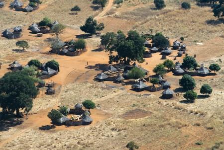 Aerial views of Mukuni village, Zambia