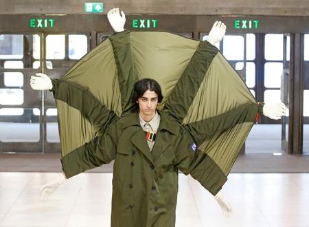 A model walking Xander Zhou's SS19 show