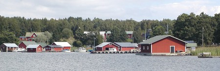 The old boat houses of Rosala, Finland