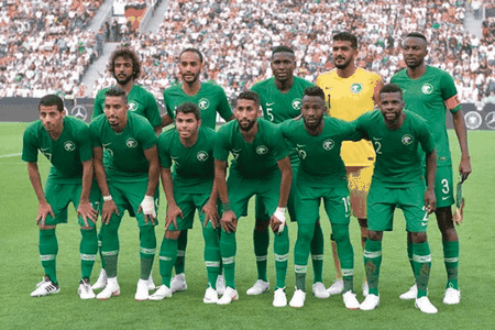 The Saudi national tootball team