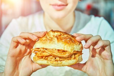 Traditional Portuguese pork beef sandwich bifana
