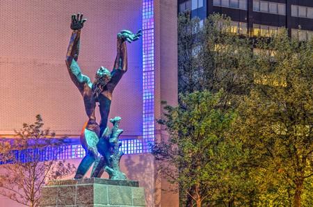 Verwoeste Stad sculpture by Ossip Zadkine, Rotterdam, the Netherlands
