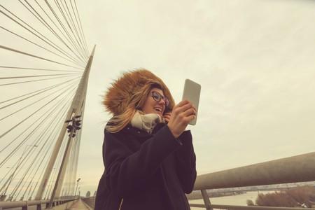 Woman doing a selfie, Belgrade