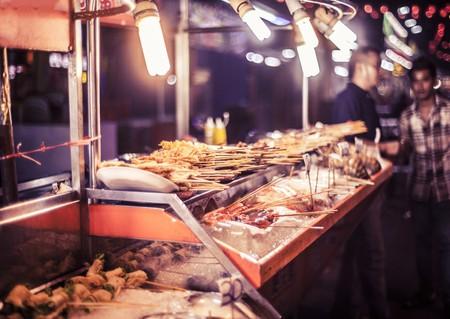 Street food at Jalan Alor night market, Kuala Lumpur