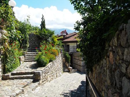 The beautiful streets of Ohrid, Macedonia