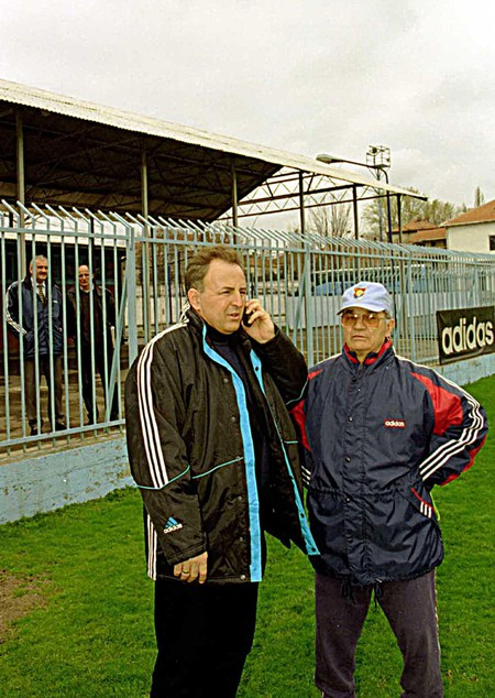 One of the world's most infamous war criminals, Zeljko Raznatovic visits his soccer team in the Yugoslavian capital Belgrade