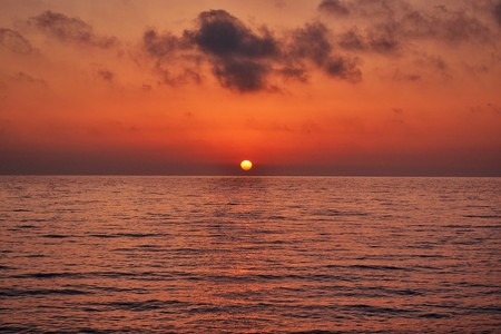 Romantic sunset in Greece