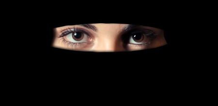 A woman wearing niqab