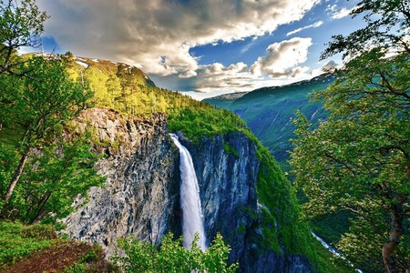 Vettisfossen waterfall