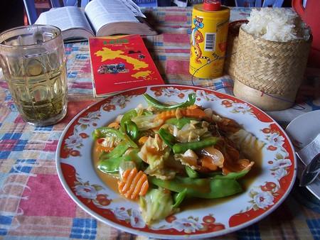 Lao fried vegetables