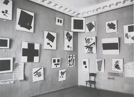 """""""The Black Square"""" at the 0,10 exhibition in Petrograd"""
