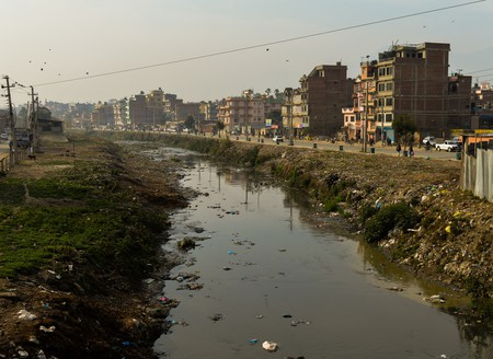 The Bishnumati River in Kathmandu is a drain that feeds into the even more polluted Bagmati River