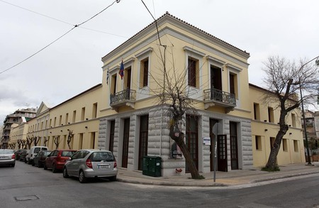 The beautiful building of the National Gallery in Athens
