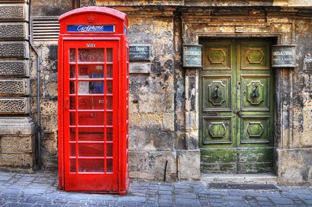 Maltese doorway and phonebox