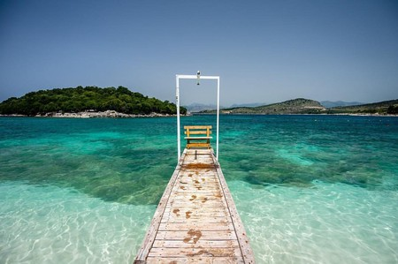 "The stunning beach of Ksamil, also called the ""Ionian Pearl"""