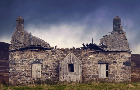 Crofters Cottage, Scotland, U.K. Before
