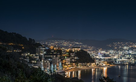 Wellington, New Zealand, at night