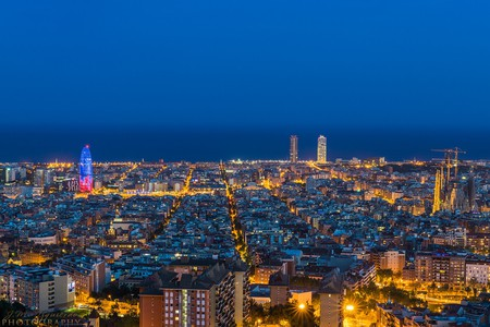 Barcelona seen from the Bunkers del Carmel