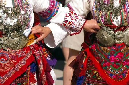 Dancing horo in Bulgaria