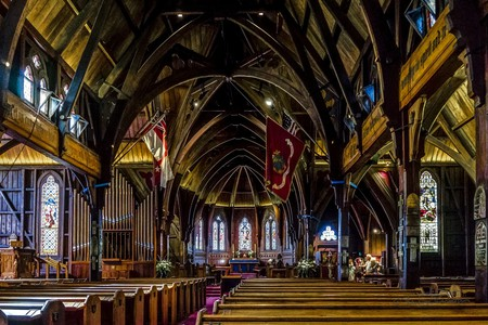 Inside Old St Paul's, Wellington, New Zealand