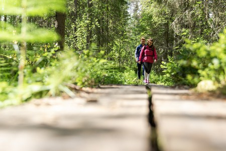 Hiking through the countryside of Finland