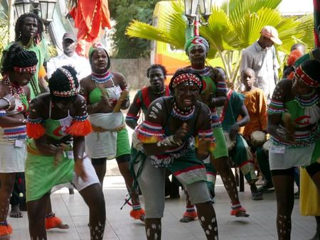 A Gambian welcome dance