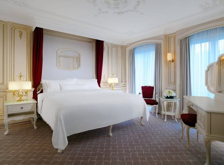 The rooms at The Westin Grand are spacious and simple in design