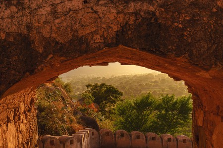 The gate to Alila Fort Bishangarh in India