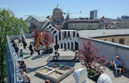 An aerial view of Berlin's new cool rooftop playground   © Michael Fuchs Galerie / Courtesy of Constance Breton
