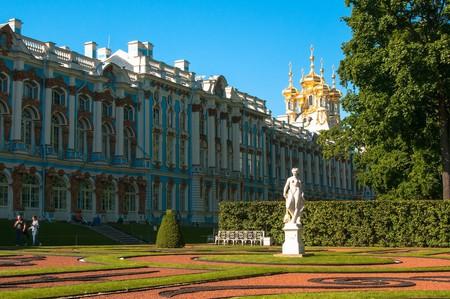 The iconic blue Catherine Palace