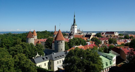 Bird's eye view of Tallinn