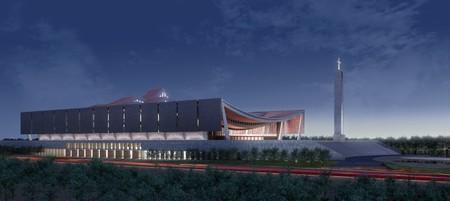 Design of David Adjaye's wavy-roofed cathedral
