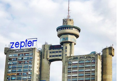 The bizarre Genex Tower in Belgrade, Serbia