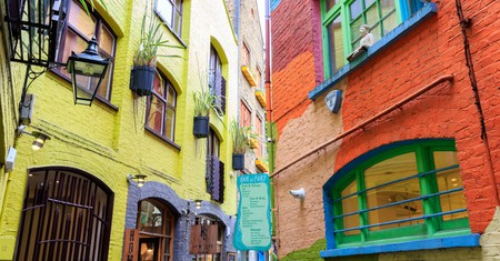 Visit vibrant Neal's Yard in Covent Garden to shop and eat