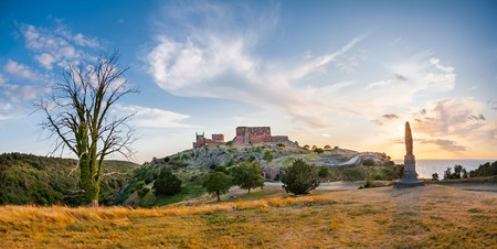 Hammershus, the popular medieval fortress in Bornholm