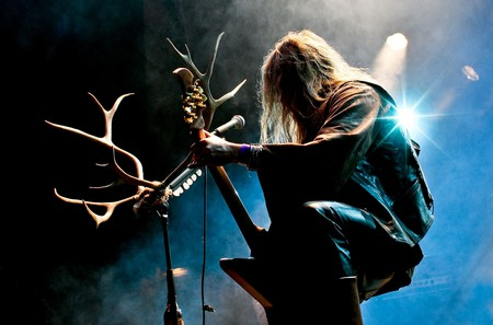 A heavy metal concert in Finland