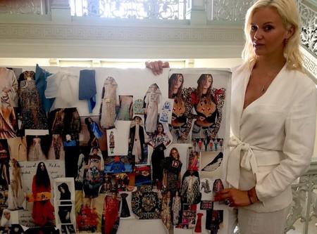Designer Lindsay Jones with mood board
