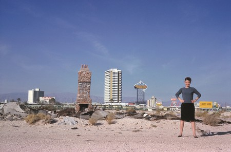 Scott Brown in front of The Strip, Las Vagas