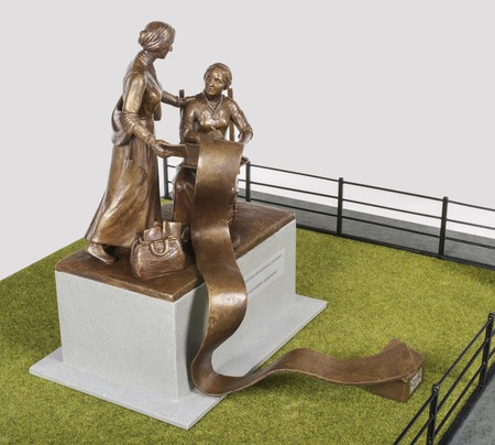 The monument to Elizabeth Cady Stanton and Susan B Anthony