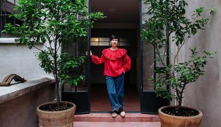 Carla Fernandez at her design studio in Mexico City