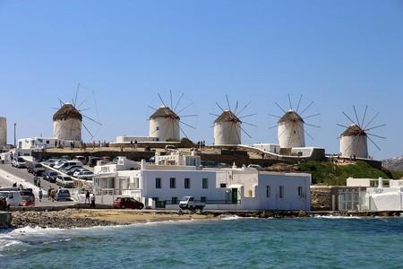 The windmills in Mykonos
