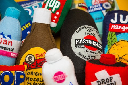 Felt grocery items by Lucy Sparrow