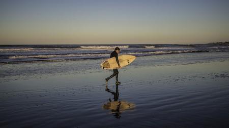 Surfer in Mar Del Plata