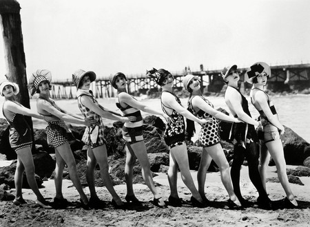 Bathing Beauties, 1916. Silent Film, Produced By Mack Sennett (1884-1960), American Film Producer And Director.