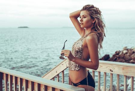 California beach-inspired hair is relaxed glam