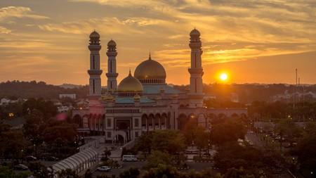 Sunset view Jame'Asr Hassanil Bolkiah Mosque